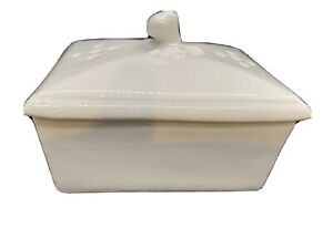 Vintage Antique Ironstone Rectangle Box with Lid