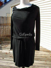 BETSEY JOHNSON VINTAGE LYCRA BLOUSON DRAWSTRING WAIST DRESS~LARGE MADE IN USA