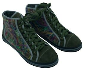 Women's XOXO High Top Shoes Printed Sneakers Olive green Size 37