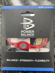 NEW Power Balance Bracelet Red Size Large Energy, Balance, Strength, Flexibility