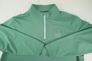 ⛳️ PETER MILLAR⛳️XL▸Crown Sport▸1/4 Zip Pullover▸Green▸Waldorf Astoria Golf Club