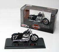 Modell Motorrad 1:18 Harley-Davidson Motorcycle 2012 XL 1200V Seventy-Two blau