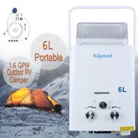 Ridgeyard 2 GPM 6L GPL Propano Scaldabagno Gas Instant Bollitore Caldaia 12KW