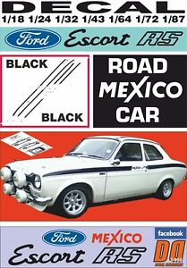 DECAL FORD ESCORT MKI MEXICO ROAD CAR BLACK (06)