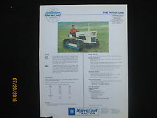 UTB UNIVERSAL Tractor 640 & 445 Crawlers Brochure Vintage Factory Original