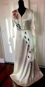 Moroccan Kaftan  Off White Abaya Embroideries And Rhinestones CM1087-136