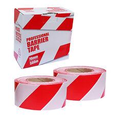 2 Rotoli di sicurezza d'emergenza barriera nastro non adesivo rosso e bianco 70 x 500m