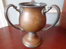 Bronze Silverplate Loving Cup 3 Handle Trophy Urn Ye Olde Cape Codder 1830-1925