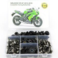 For Kawasaki Ninja650 12-16 Complete Fairing Bolts Screws Fasteners Kit Titanium