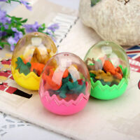 16Pcs Funny Mini Dinosaurs Pencil Rubber Erasers Gifts Students Stationery Cute