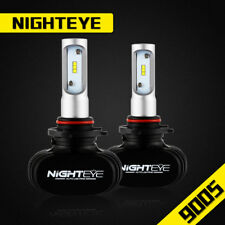 NIGHTEYE 2x 9005 HB3 LED Headlight Light Bulbs Fog Lamp 6500K 8000LM Fanless 50W
