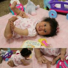 Reborn Crawling baby girl with torso,  size of 10 month old AA ethnic biracial