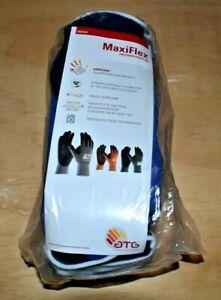 12 x ATG Maxiflex Elite Foam Nitrile Work Gloves BLUE size 9 Large
