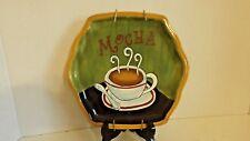 "Vigor Hand Painted Mocha Coffee Plate 8"" Ceramic CL33-9"