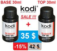 BEST PRICE! 2pcs 30ml. Rubber BASE + Rubber TOP Kodi Professional Gel LED/UV
