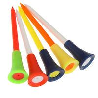 Lot 10/20/50pcs Golf Tools Multicolor Plastic Golf Tees Rubber Cushion Outdoors.