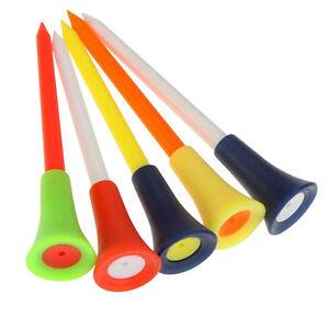 10/20/50pcs Golf Tools Multicolor Plastic Golf Tees Rubber Cushion Outdoors..
