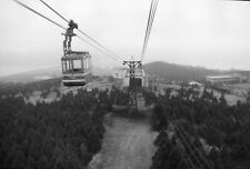 T695 Original 35mm photo NEGATIVE 1950s 60s Japan skybucket ride trees forest