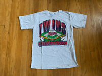 Minnesota Twins Vintage 90's Salem Single Stitch Graphic T Shirt Mens M EUC Rare