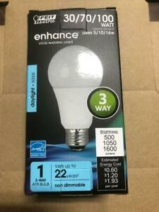 2 Feit Electric A30/100/950CA 30/70/100W Non-Dimmable A19 3-Way LED 5000K Bulbs
