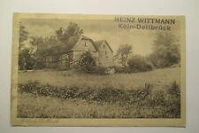 Ansichtskarte Köln Dellbrück Mühle Wassermühle 1928