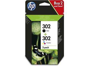 HP No 302 Black & Colour Multi Pack Original OEM Inkjet Cartridges