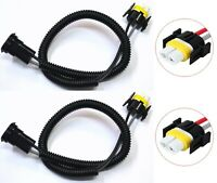 Extension Wire Ceramic S H16 64219 Two Harness Fog Light Female Socket Plug Lamp