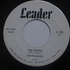 THE PALISADES: The Shrine LEADER doo woo TEEN obscure 45 HEAR IT