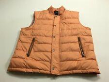 Men's Brooks Brothers Mens Down Winter Puffer Vest Orange XL