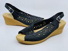 Spring Step Women'e Orella Black Slingback Sandals Size 9