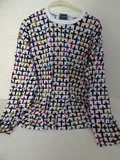 VTG VERSACE JEANS COUTURE * CROSSES * LONG SLEEVE T-SHIRT L LARGE MADE IN ITALY