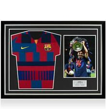 Lionel Messi Official Signed FC Barcelona Home Shirt In Hero Frame: Nike 20-Year