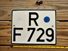 GERMANY MOTORCYCLE LICENSE PLATE # R F 729