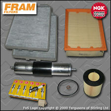 SERVICE KIT BMW 5 SERIES 528I E39 FRAM OIL AIR FUEL CABIN FILTER PLUGS 1995-1999