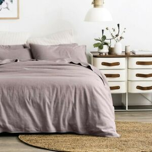 Sheridan linen cotton blend King size doona cover and pillowcases