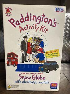 RARE Vintage 1999 Cadaco Paddington Bear Snow Globe Activity Kit NEW SEALED