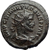 PROBUS w Jupiter Authentic Ancient Original 276AD Antioch Roman Coin i67238
