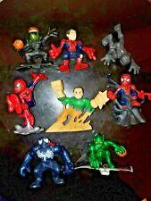 Superhero Squad Spider-Man Movie Lot 8 Set Venom Sandman Green Goblin Black SHS