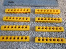 Lego Technic 8 x YELLOW Beams - 8 pin / 7 Hole Brick