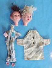 Ancienne Paire Marionnette Bonne Nuit les Petits Nicolas & Pimprenelle Celluloïd