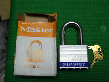 "Master Lock 15LH Keyed Padlock, 2-1/2"" Wide, Keyed Different, Made in USA"