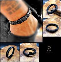 Echtleder Leder Armband BRANDNEU *Handgefertigt* Magnetverschluss Herren Frauen
