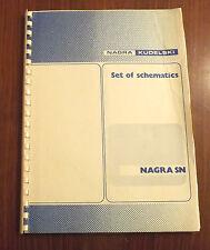NAGRA KUDELSKI SN - SET OF SCHEMATICS - DETAILED CIRCUITS