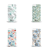 Personalised name initial Floral Pattern L40  Hard plastic phone case