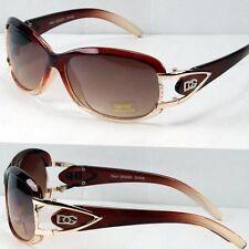 New DG Eyewear Womens Designer Oval Fashion Wrap Around Round Sunglasses Shades