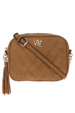 NEW Wayne Cooper Bailey Zip Top Crossbody Bag Tan