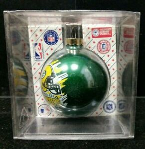 New Green Bay Packers NFL Sports Collectors Series Glass Ornament Lot B2-3-M