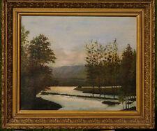 Tableau paysage fin 19ème Vosges signé Delly
