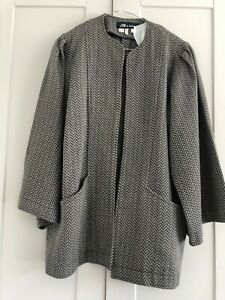 Jean Muir Womens 100% Cotton Jacket Size 10 PreOwned