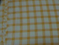 TARA CHECK 150 CM X 300 CM YELLOW & WHITE TABLECLOTH EASY CARE NEW SPECIAL